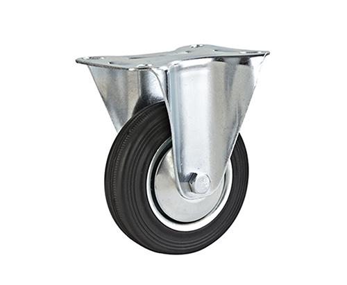 4-8寸工业橡胶固定轮