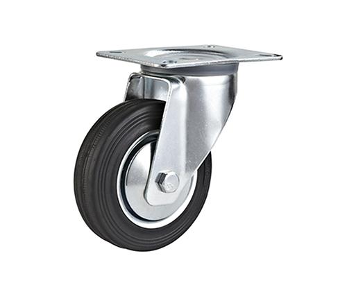 4-8寸工业橡胶万向轮
