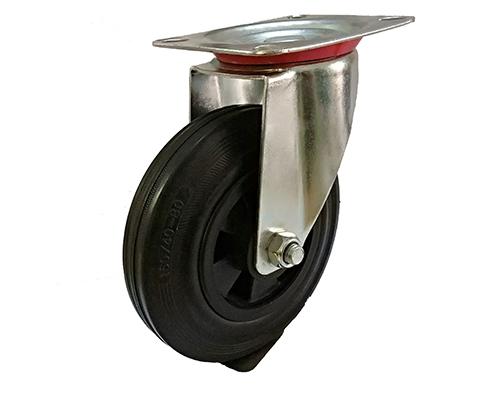 欧款黑色橡胶活动轮
