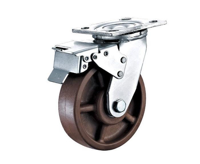 4-8寸重型带刹车耐高温脚轮