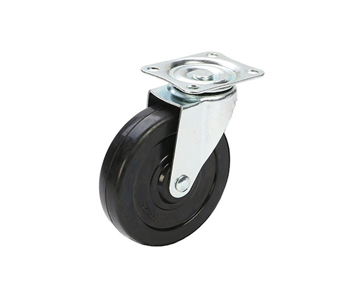 4寸橡胶万向轮