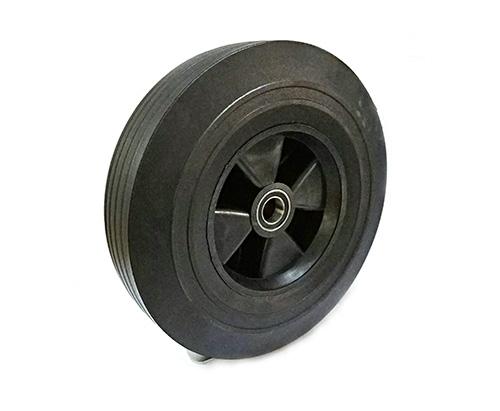 10寸双轴工业橡胶轮