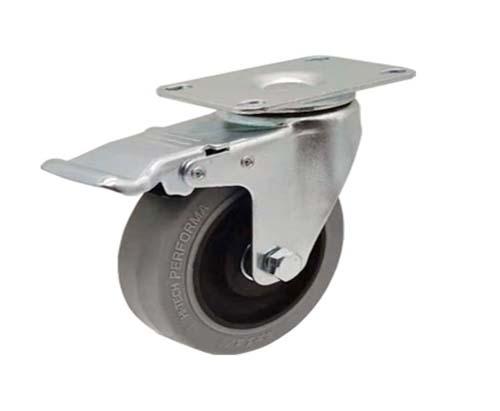 3-5寸平底防静电刹车脚轮