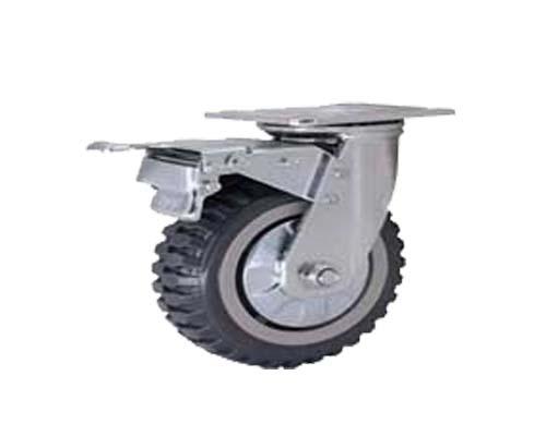 4-8寸重型平底烽火轮刹车脚轮