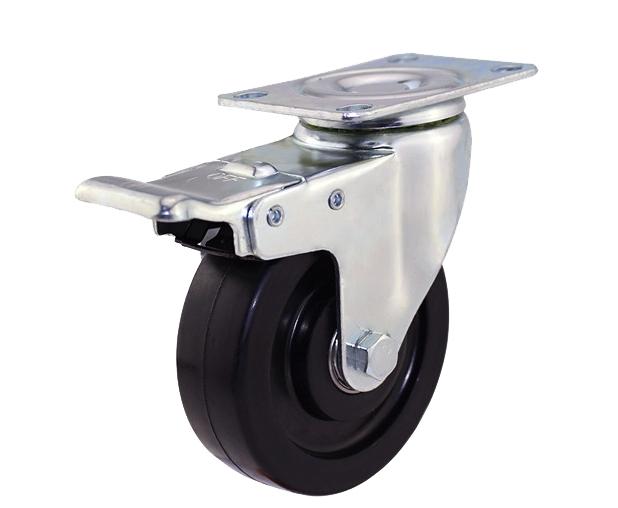 3-5寸平底导电刹车脚轮