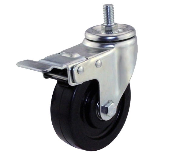 3-5寸丝杆导电刹车脚轮