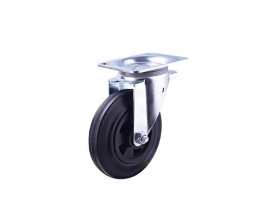 8寸工业橡胶万向脚轮