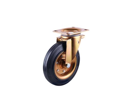 8寸工业铁芯橡胶万向脚轮