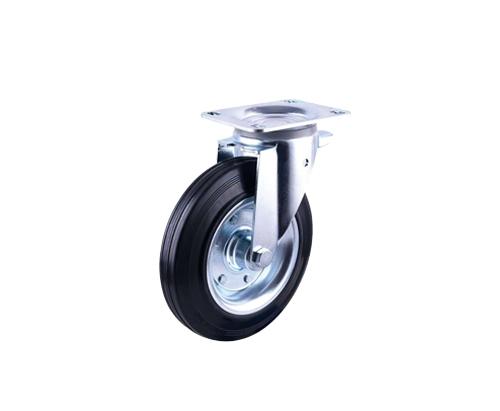 10寸工业橡胶铁芯万向轮