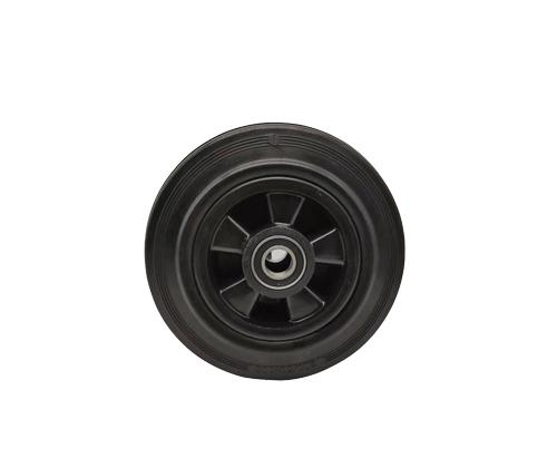 8寸双轴工业橡胶轮6004