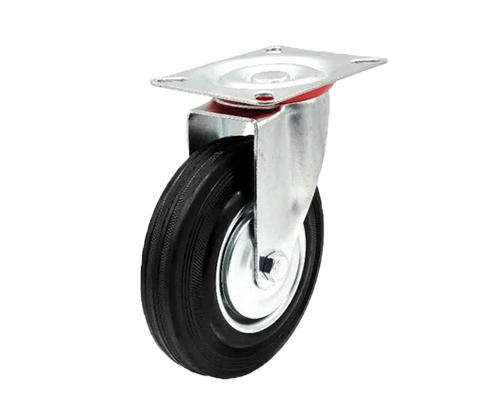 5寸欧款工业橡胶万向轮
