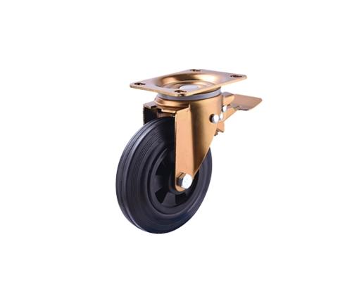 8寸垃圾车橡胶刹车脚轮
