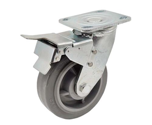 6寸重型刹车人造胶脚轮