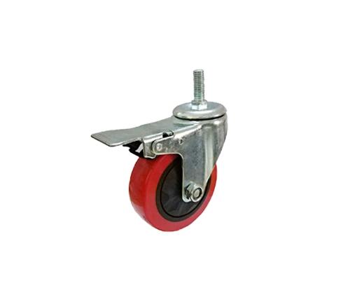 3-5寸丝杆单轴刹车轮