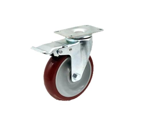 5寸中型枣红脚轮