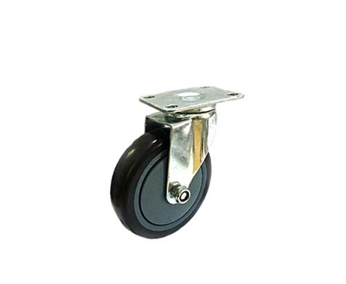 5寸平底黑色单轴万向轮