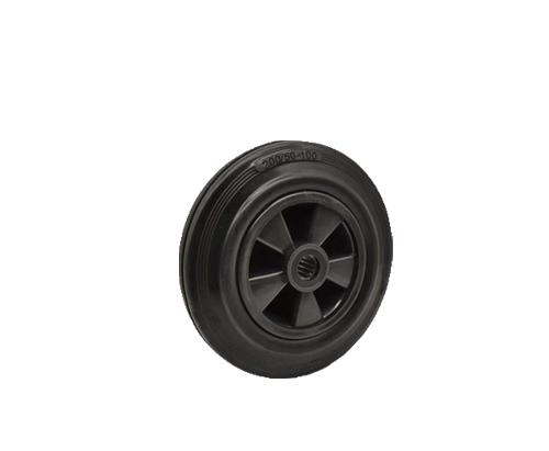 8寸黑色橡胶滚针脚轮