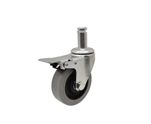 4寸插杆防静电刹车脚轮