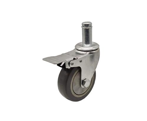 4寸插杆单轴刹车脚轮
