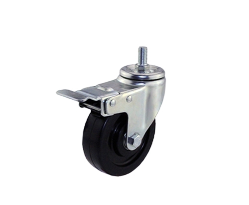 4寸丝杆导电刹车脚轮