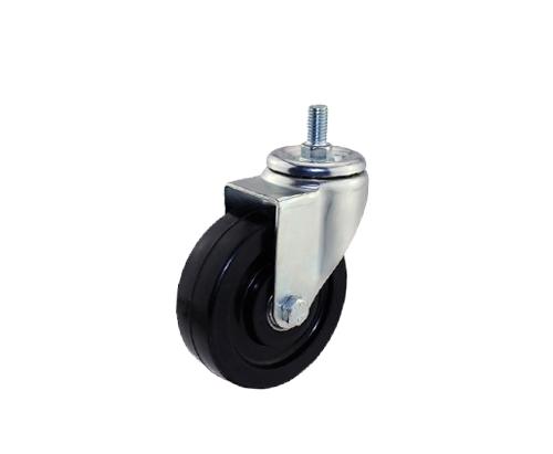 4寸丝杆导电万向脚轮