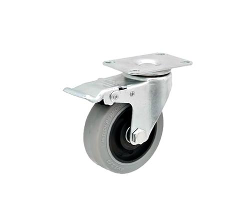 4寸平底防静电刹车轮