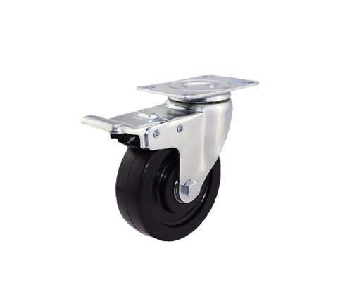4寸平底导电刹车脚轮