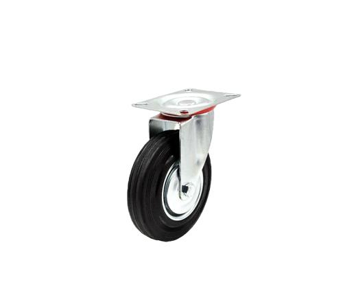 5寸工业橡胶万向轮