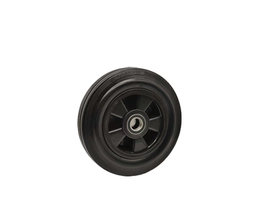 10寸双轴工业橡胶脚轮6005