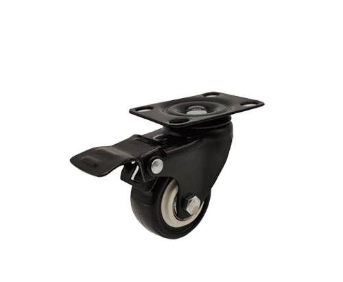 2寸平板刹车金钻脚轮
