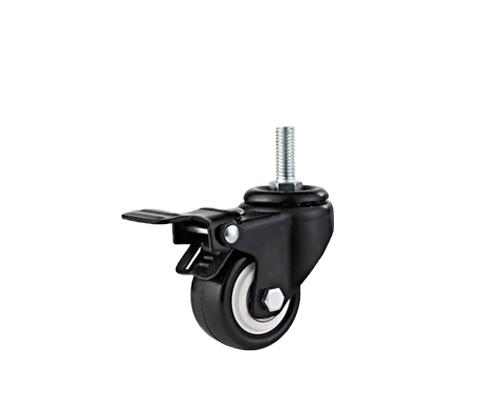 2寸丝杆金钻刹车脚轮