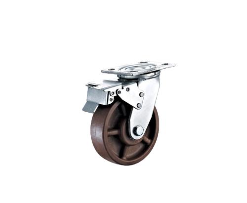 5寸重型带刹车耐高温脚轮