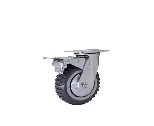 5寸重型平底烽火轮刹车脚轮