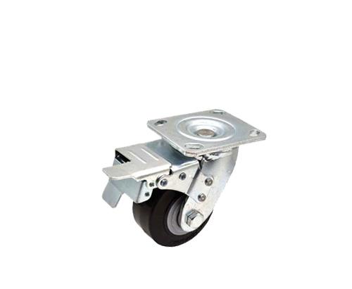 4寸重型平板刹车脚轮