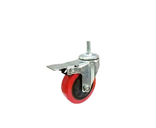 4寸丝杆单轴刹车轮