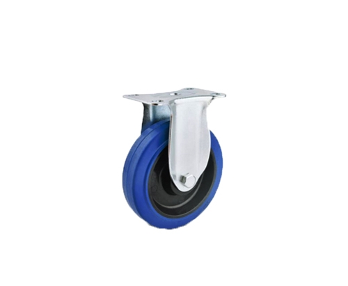 中型弹力蓝色定向脚轮