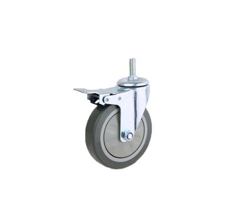 丝杆单轴灰色刹车轮