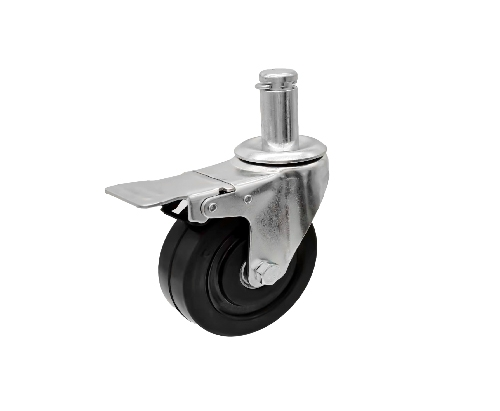 插杆防静电万向带刹车脚轮